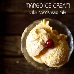 one bowl 3 ingredient mango ice cream