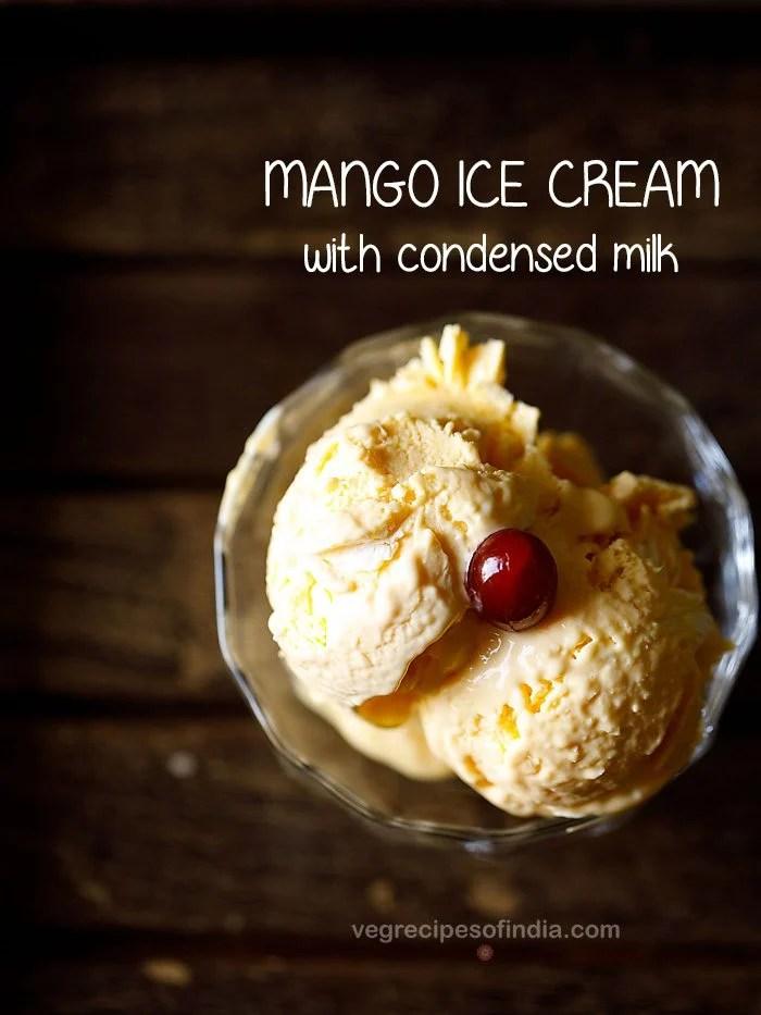 one bowl 3 ingredient mango ice cream