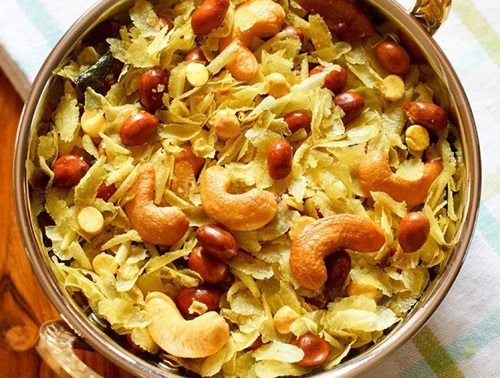 thin poha chivda recipe