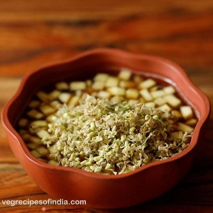 preparing Ugadi pachadi recipe