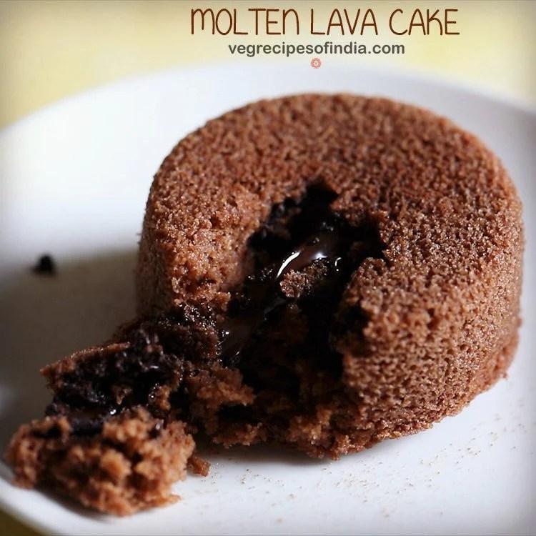 eggless molten lava cake recipe