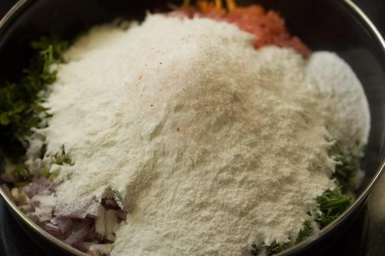 veggies for making akki roti recipe