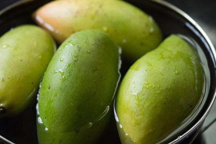 mangoes to make andhra mango pickle recipe