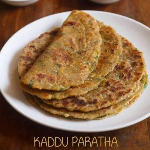 kaddu paratha recipe, pumpkin paratha recipe