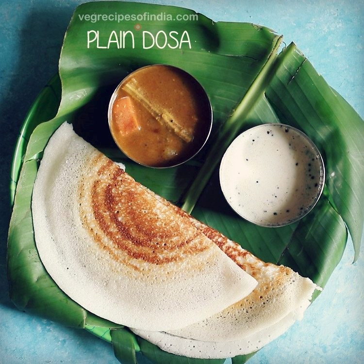 plain dosa recipe, sada dosa