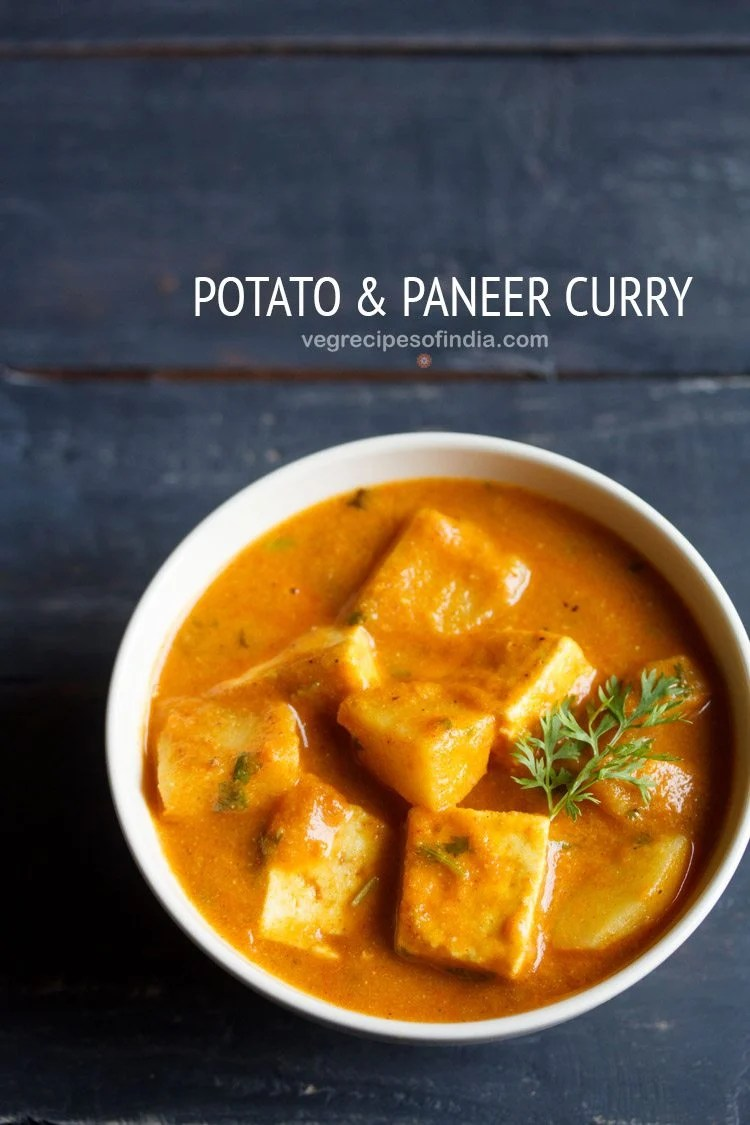 aloo paneer recipe, potato paneer curry recipe