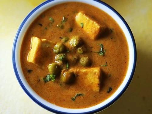 dhaba style matar paneer recipe