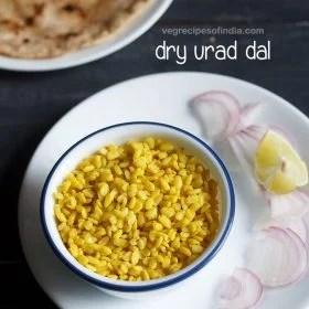 dry urad dal recipe