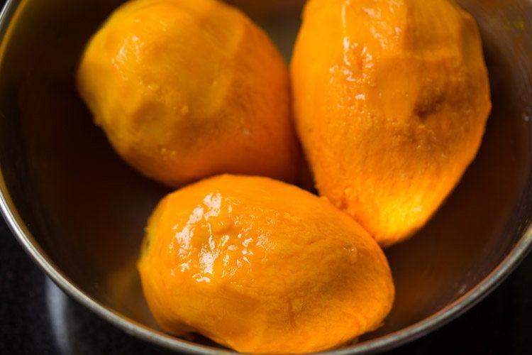 mangoes to make mango shikran recipe