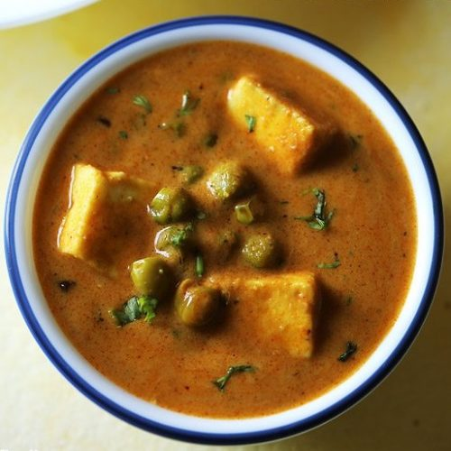 matar paneer recipe dhaba style, paneer mutter masala recipe