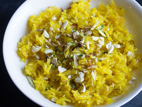 zarda pulao meethe chawal recipe