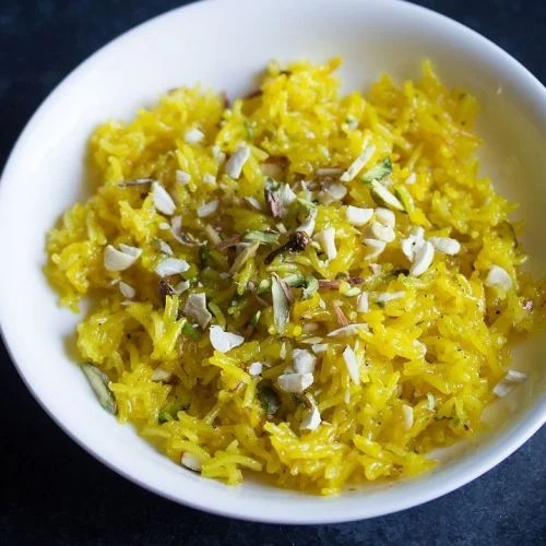 zarda recipe, meethe chawal recipe, zarda pulao recipe, sweet rice recipe