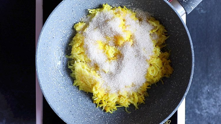 making zarda pulao recipe, making zarda recipe, making meethe chawal recipe
