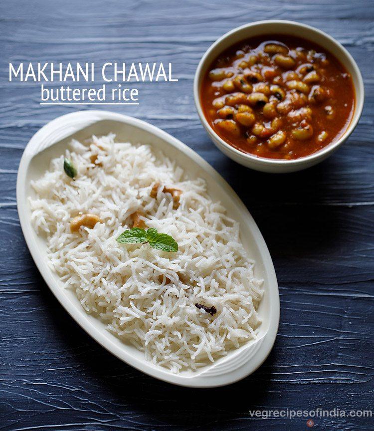 butter rice recipe, makhani chawal recipe