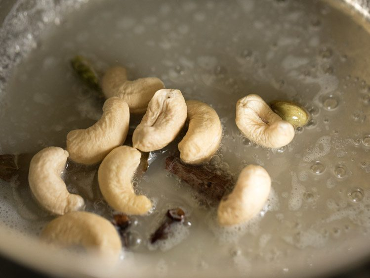 adding cashews