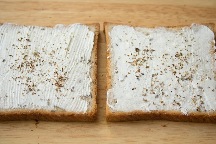making cream cheese sandwich recipe