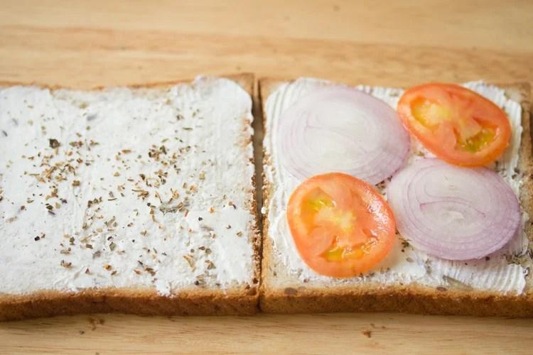 making cream cheese sandwich recipe