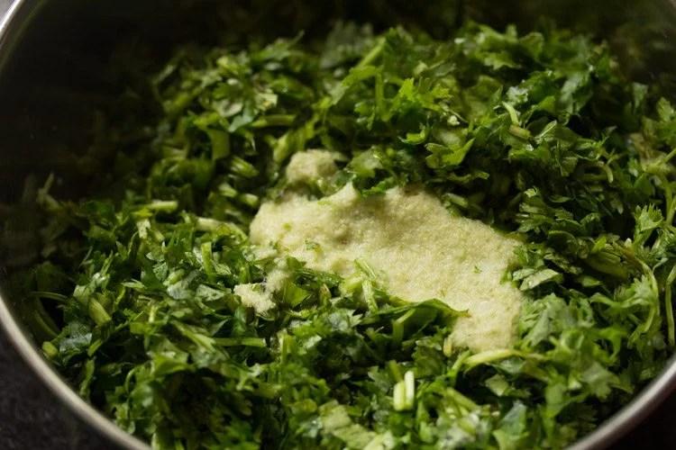 kothimbir for making kothimbir vadi recipe