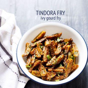 kovakkai fry recipe, how to make kovakkai fry | tindora fry | kovakkai recipes