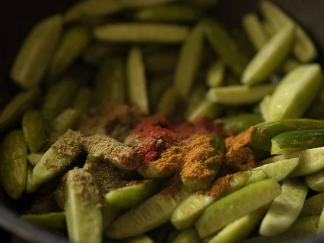 making kovakkai fry recipe