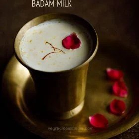 badam milk recipe