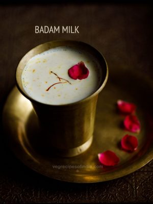 badam milk recipe