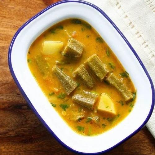 bhindi ka salan recipe, ladies finger curry recipe