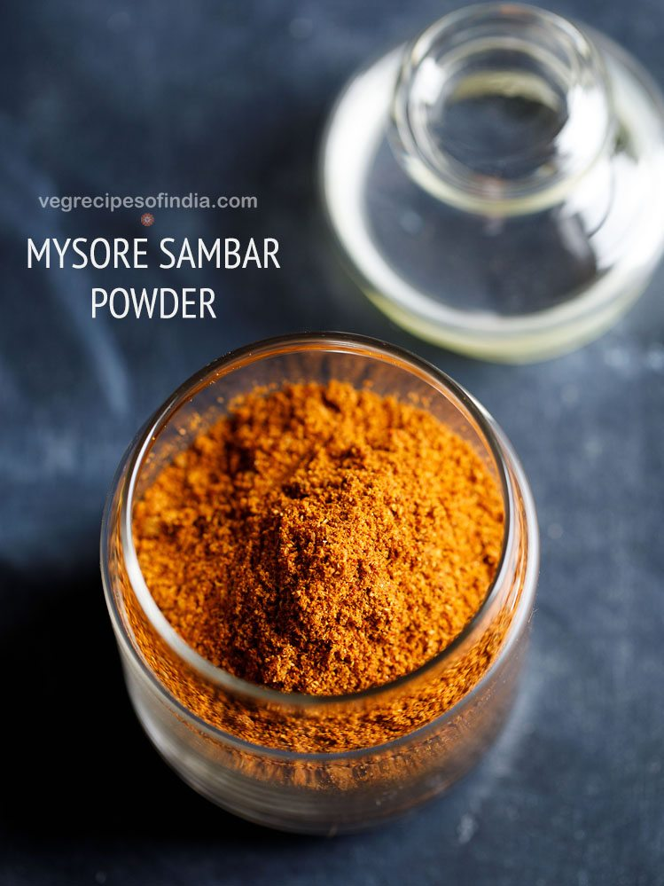 mysore sambar powder recipe
