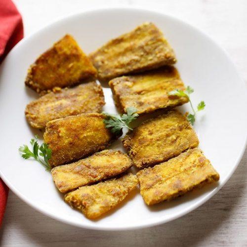 raw banana fry recipe, kele phodi recipe
