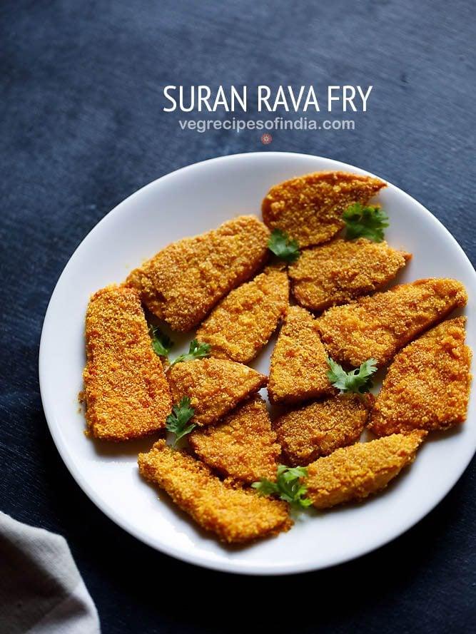 suran rava fry recipe