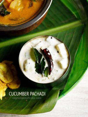 vellarikka pachadi, cucumber pachadi recipe