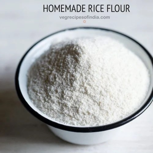 how to make rice flour at home, rice flour recipe