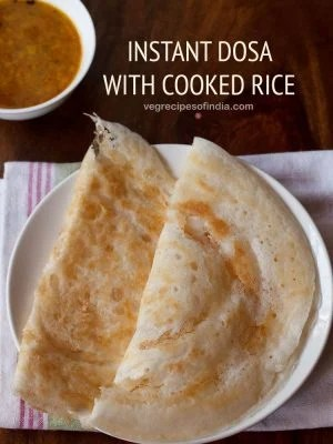 leftover rice dosa, instant dosa with cooked rice
