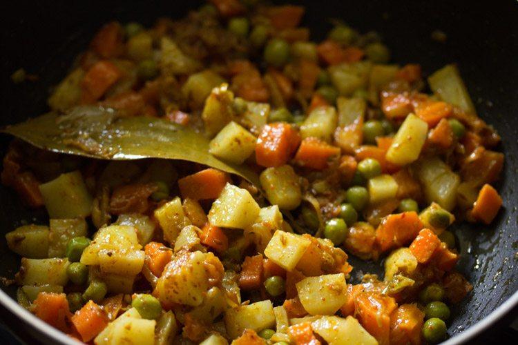 saute the veggies