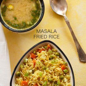 indian style veg masala fried rice