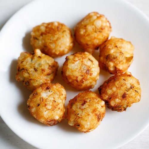sabudana bonda recipe, saggubiyyam punugulu recipe
