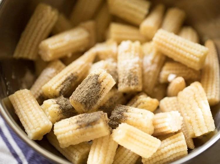 baby corn to make baby corn manchurian gravy recipe
