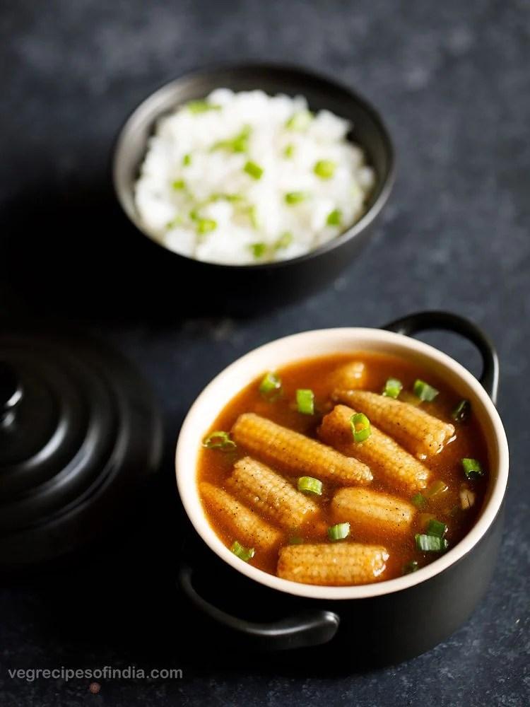 baby corn manchurian recipe