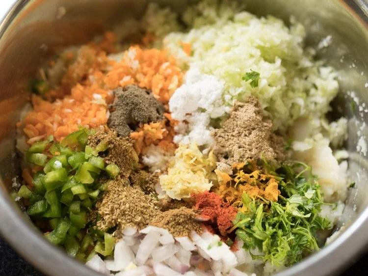 vegetables for making veg lollipop recipe