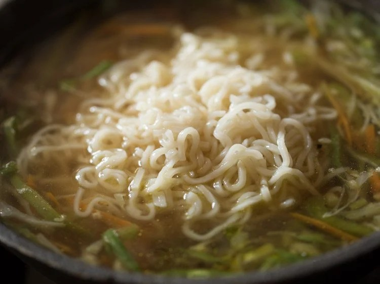 adding noodle