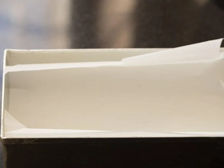 cake pan with parchment paper