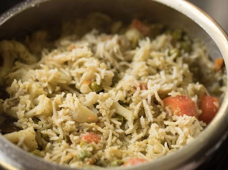 veg brinji rice recipe