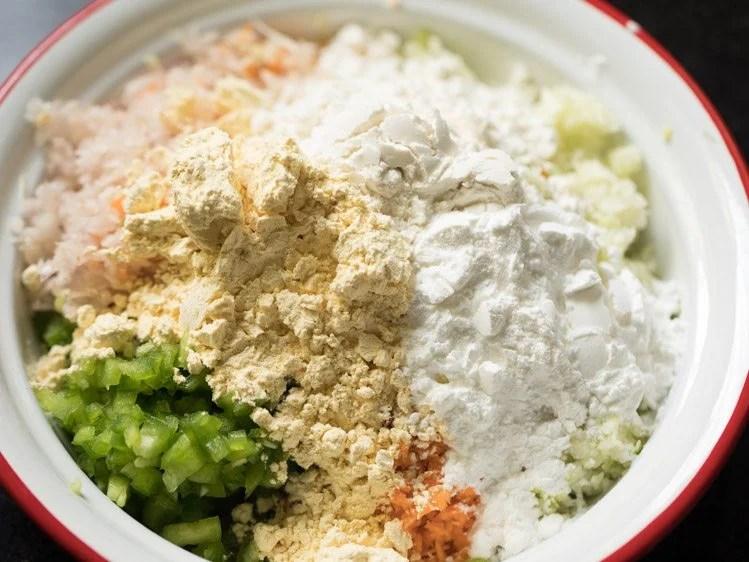 veggies to make Chinese pakoda recipe