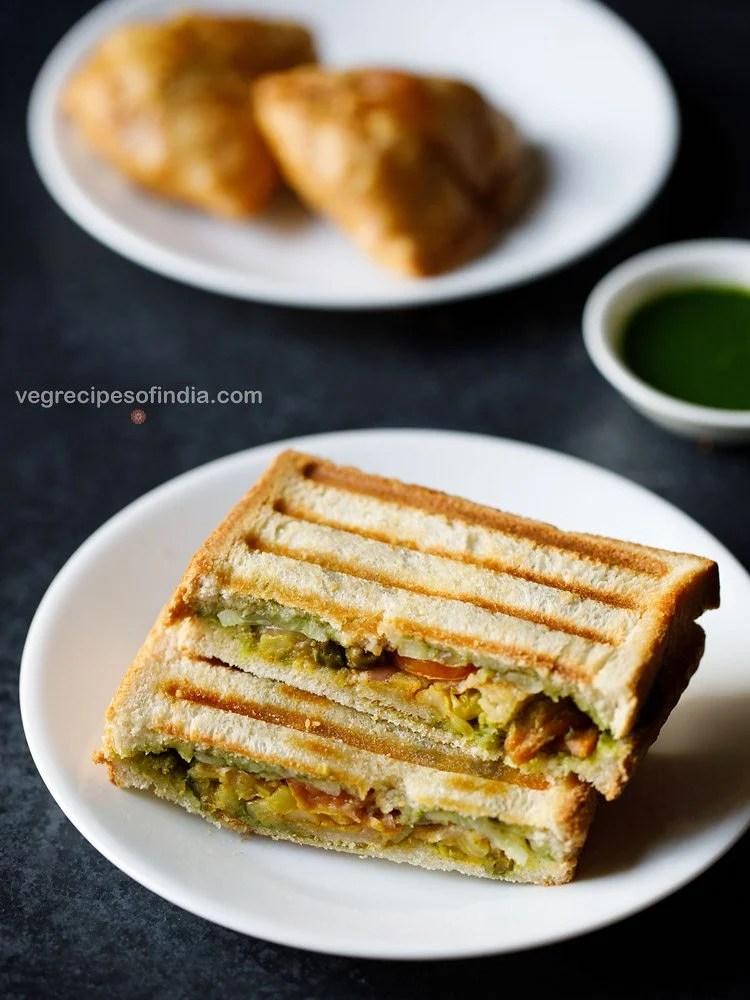 grilled samosa sandwich recipe