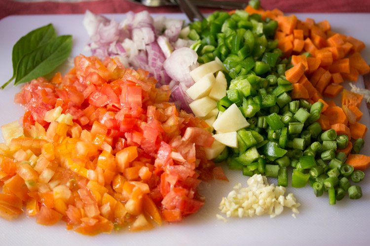 veggies to make one pot pasta recipe