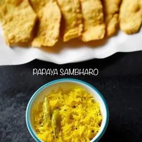 papaya chutney, papaya sambharo recipe