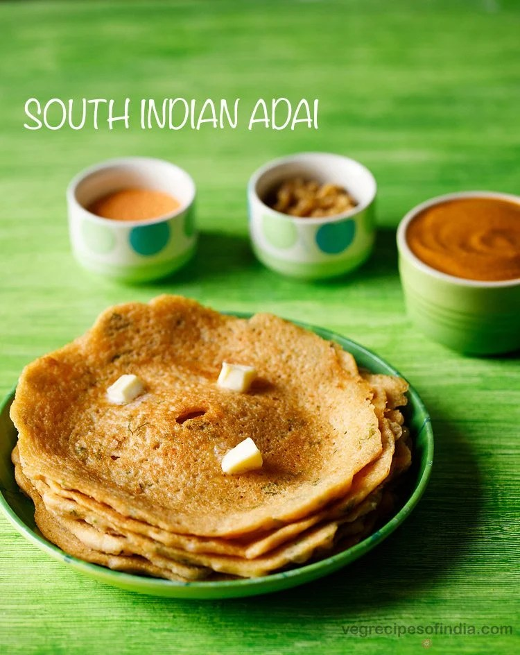 South Indian adai recipe