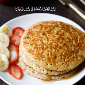 eggless pancake recipe, egg free pancake recipe