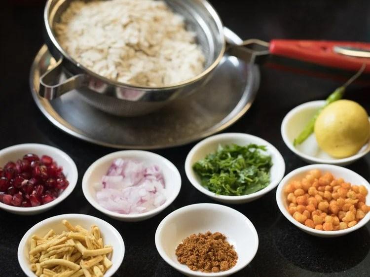 ingredients for making Indori poha recipe