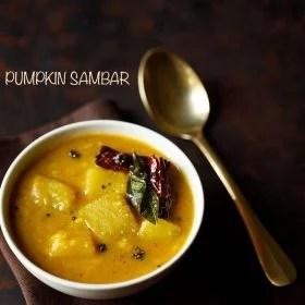 pumpkin sambar recipe, poosanikai sambar